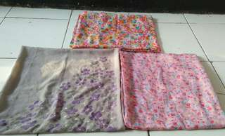 Take all jilbab segi 4,flower cute