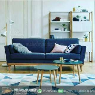 Set Kursi Sofa Tamu Retro
