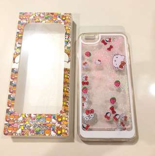 Liquid Casing (Hellokitty) + Ring Stang (Hellokitty) for IPhone 6+/6S+