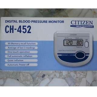 citizen blood pressure monitor ch-452