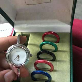 Authentic Gucci Bangle with Bezels