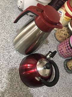 Bundle of two Water kettle and thermos