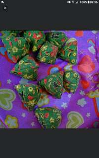 Batik green floral flowers   five stones  Assorted Designs And Patterns In Per Pack