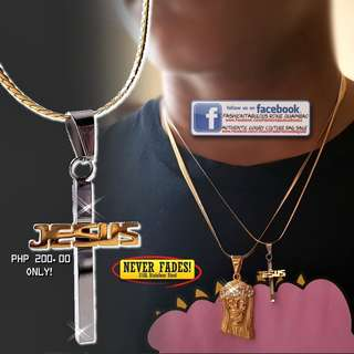 JESUS CROSS/CRUCIFIX Pendant with Elegant Snake Chain Necklace