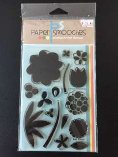 Paper Smooches Bold Blooms Clear Stamps