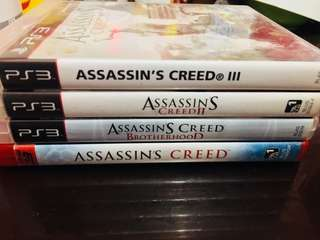 Ps3 games Assassin's creed