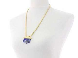 CC SKYE 12K Gold Plated Earth Stone Pendant Necklace