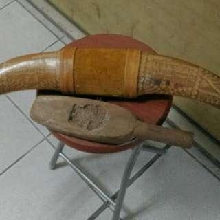 A Pair Of Golden Ox Horn