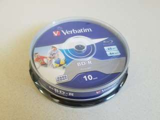 Verbatim BD-R 藍光燒錄碟(十片裝)