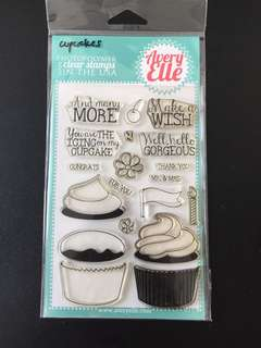 Avery Elle Cupcakes Clear Stamps