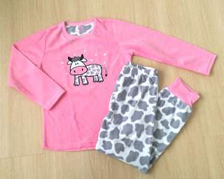 🆕 Pink Cow Girl Fleece Pyjamas