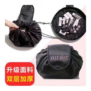 【F959】Lazy cosmetic bag large capacity DrawString travel bag wash bag storage bag waterproof simple portable