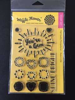 Waffle Flower Gemstone Clear Stamps