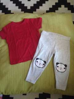 Baby Top & Panda Leggings
