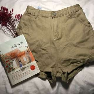 yellowish brown shorts