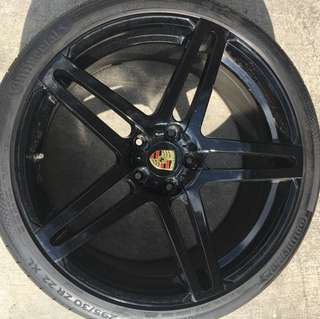 "Used 22"" rims for Porsche Cayenne"