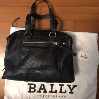 Bally authentic black calf leather handbag brand new
