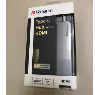 全新 Verbatim Type C Hub with HDMI (Grey 太空灰)