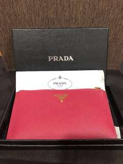 Brand new authentic Prada Saffiano pouch