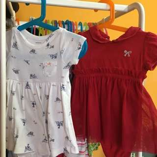 Carters & Miki Baby romper dress up to 6 mth (Price include postage)