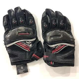 (Used/Preloved) Komine GK-117 Motorcycle / Bike Gloves Size S / Ladies / Black