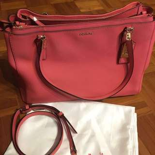 Coach Madison Christie Carryall Satchel Saffiano Leather
