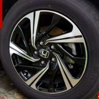 Sticker for Honda stock rims