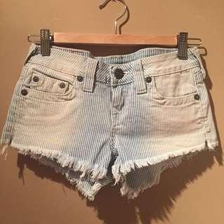 True Religion Bobby Cut-Off Denim Shorts Size 26 Never Been Worn