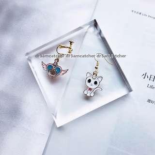 Sailormoon cat Artemis earrings (pre-order)