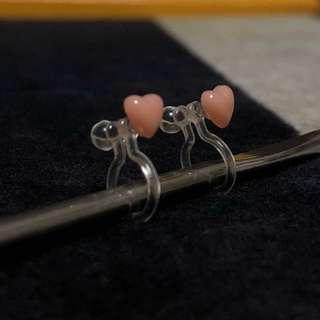 [Non-pierce] Heart shaped earrings