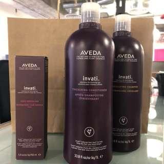 AVEDA invati shampoo & conditioner + scalp revitalizer