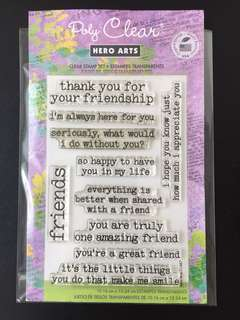 Hero Arts Cl487 Thank You For Being My Friend Clear Stamps