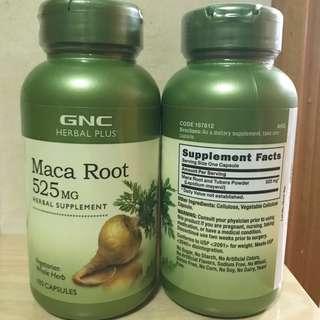 ☆男士/女士健康補充品☆ GNC 瑪卡根 525mg (100粒) Maca Root