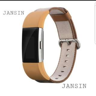 ●JANSIN● Instock Fitbit Charge 2 Strap Nylon style