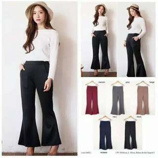 Cutbray pants