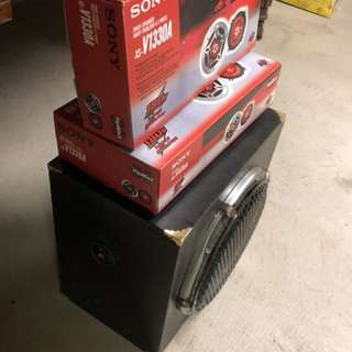 Car speakers and subwoofer
