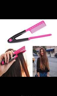 DIY Salon Hair Straightener Styling Comb straightener Flat Iron