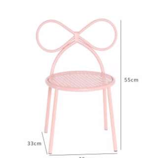 Kids ribbon chair - Pink/Blush
