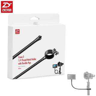 "Zhiyun Official Crane 2 1/4"" Thread Metal Holder with Flexible Pipe 400mm for Zhiyun Crane 2 Connect with Monitor"