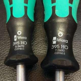 Wera kraftform plus 395 HO 5.5mm 及 7mm 一共兩支