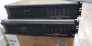USED 2 X APC UPS RACK MOUNT 4U