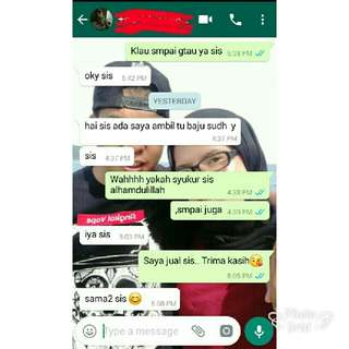 feedback customer💕 from Sandakan