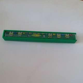青蛙仔keroppi日本絕版1990年筷子盒