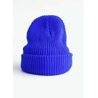 🚚 寶藍色 毛帽 秋冬款帽子