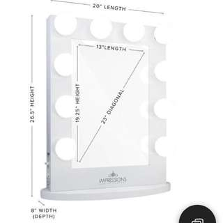 Vanity Mirror 1/4 inches thickness