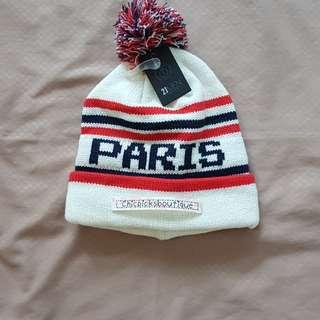 Authentic Forever 21 Paris design bonnet white from JAPAN