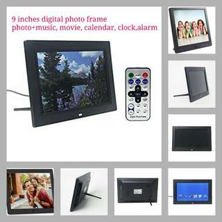 Signstek 9 Inch Digital Photo Frames with Auto On/Off Timer, MP3 and Video Player Function