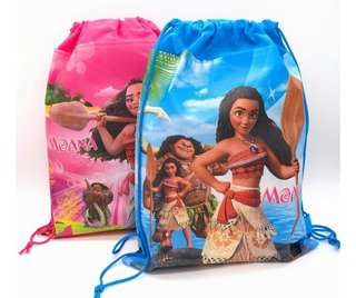 Moana Drawstring Loot Bags 12 pcs