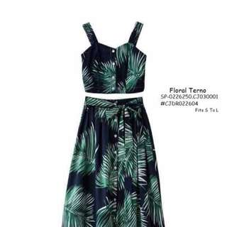 Floral terno fits S-L