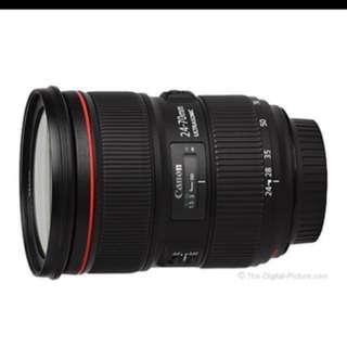 Canon 24-70mm f2.8 L II USM